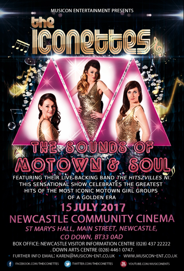 the Iconettes Motown & Soul band Newcastle Summer Season