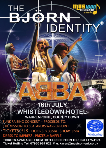 Abba Tribute Night Whistledown Hotel Warrenpoint