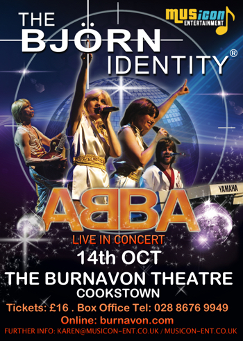 Abba Tribute show The Bjorn Identity gigs, show, concert dates