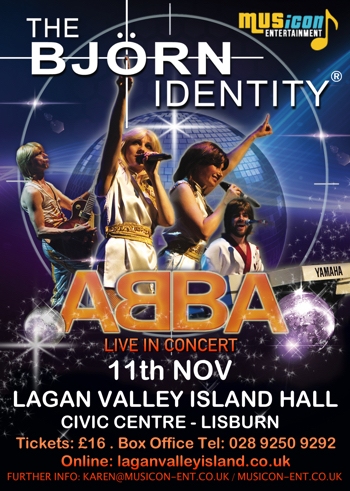 Abba tribute show The Bjorn Identity theatre dates, gigs, shows, concerts 2017