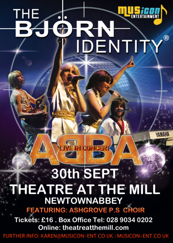 Abba Tribute gigs, dates, shows Theatre at the Mill